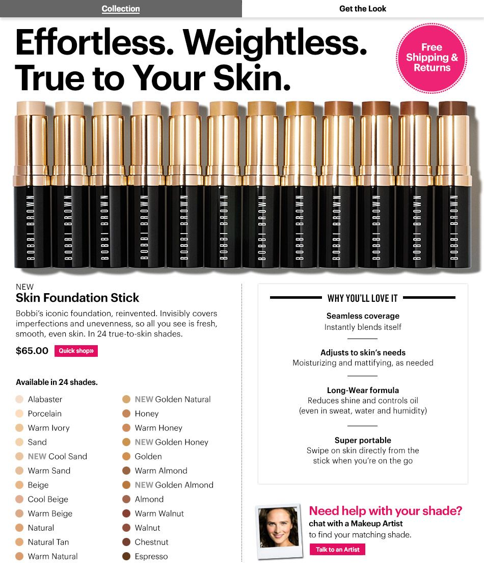 Bobbi Brown Skin Foundation Stick Color Chart Makeup