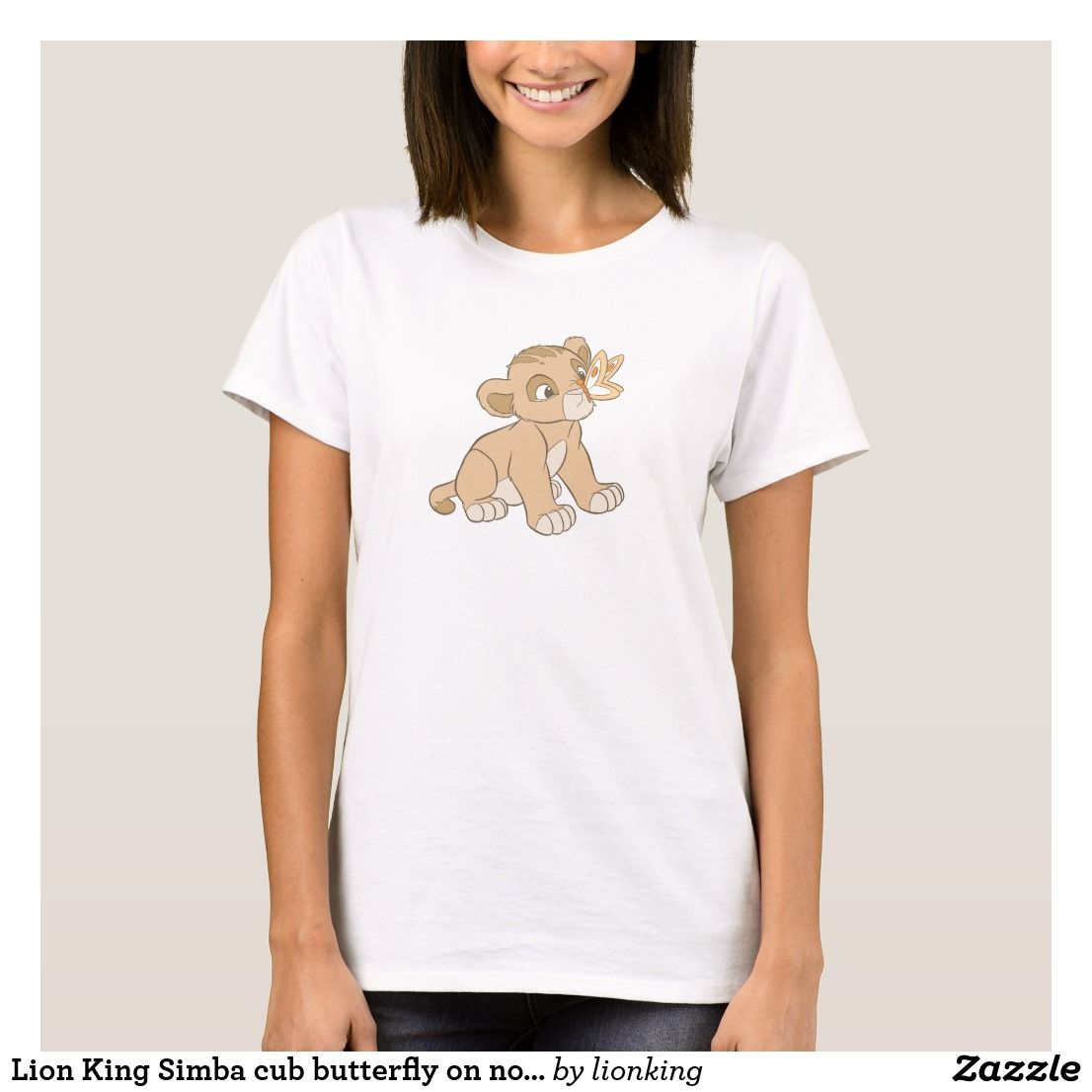 Lion king simba cub butterfly on nose disney t shirt