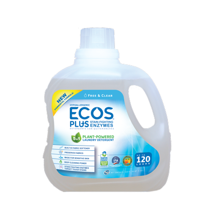 Ecos Plus He Liquid Laundry Detergent With Stain Fighting Enzymes