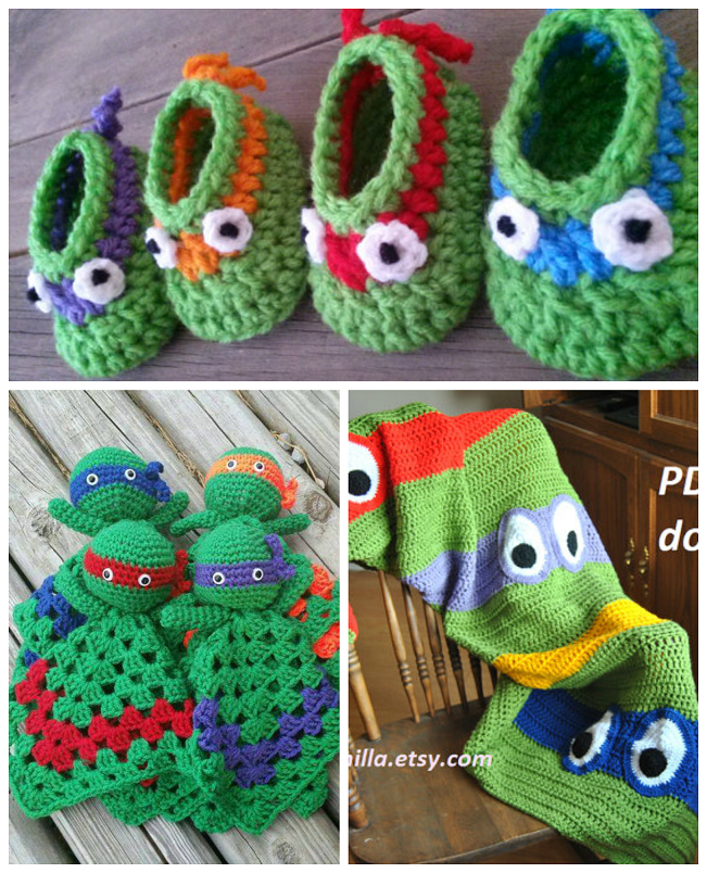 crochet-ninja-turtle-patterns   Crochet   Pinterest   Zapatitos ...