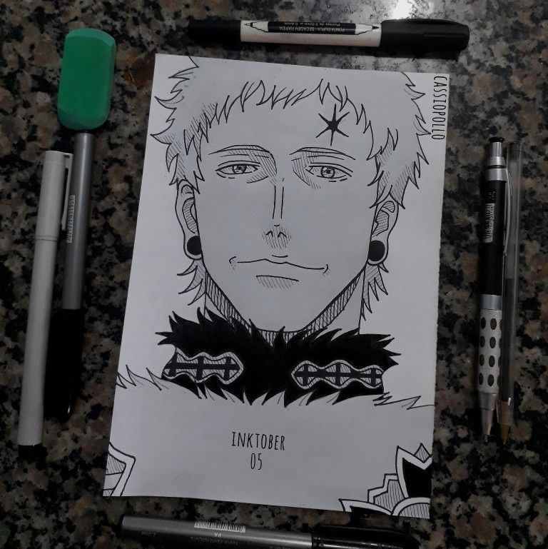 Inktober 05 Julius Novachrono Black Clover In 2020 Anime Demon Inktober Clover Rip magic emperor julius nova chrono 😭💔. pinterest