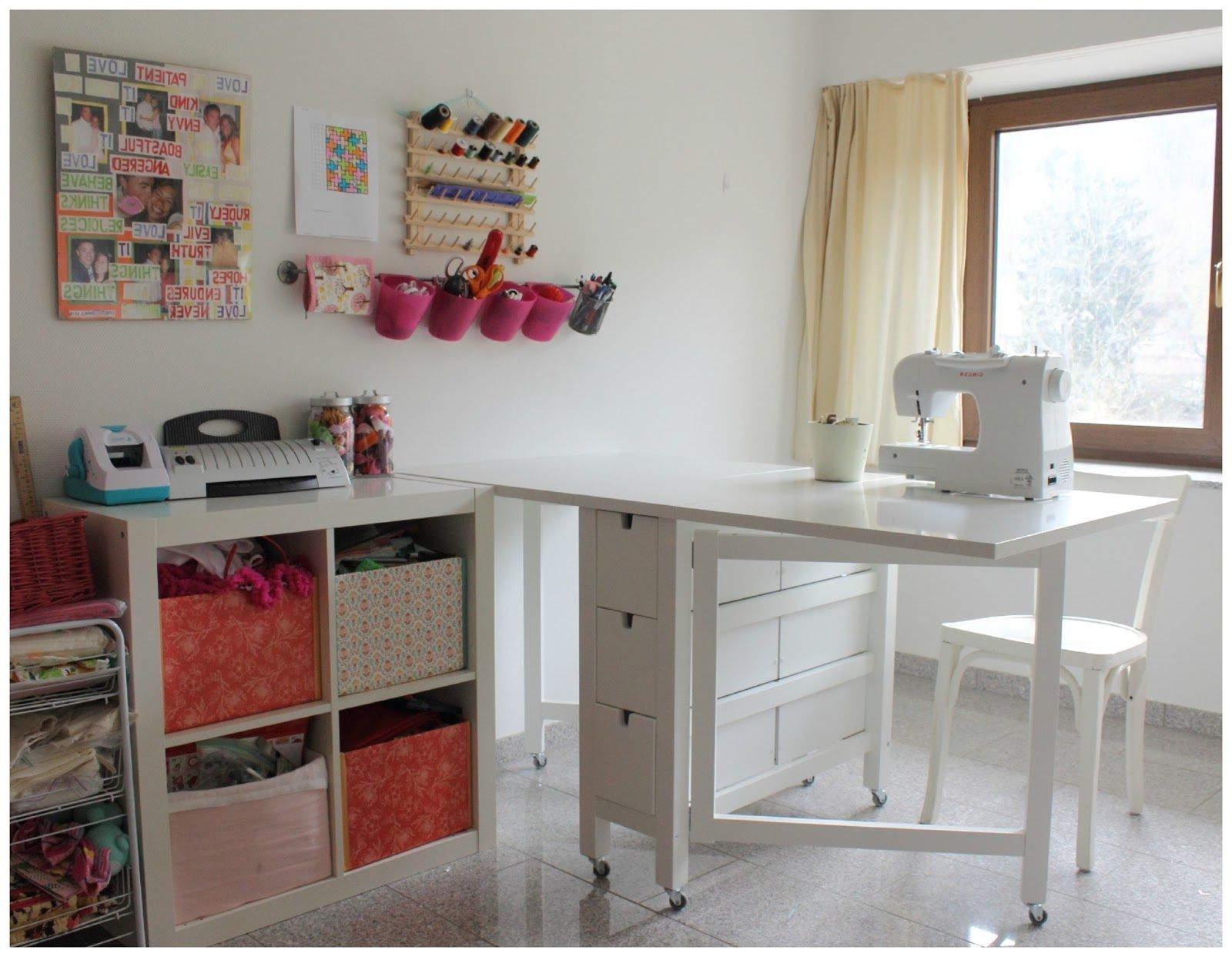 Fantastic Sewing Table Ikea Craft Room Tables Diy Table