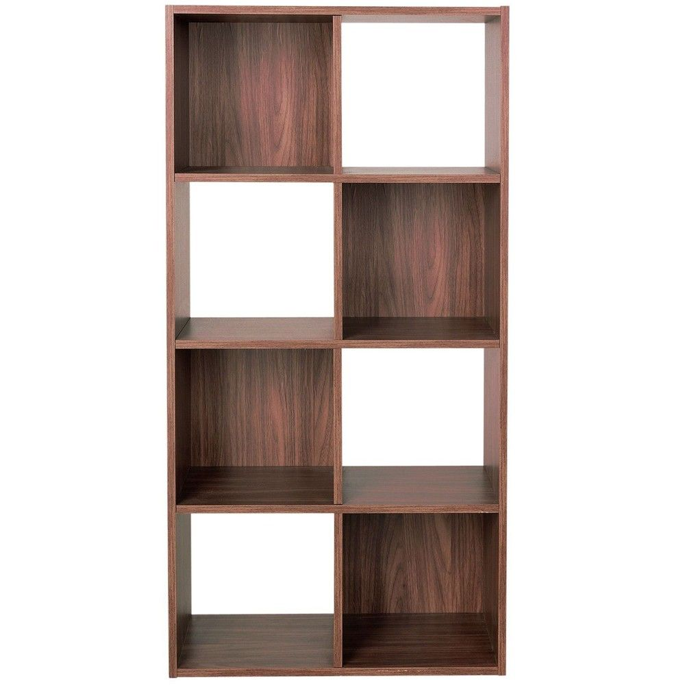 Bo Tall 8 Square Cube Storage Shelf Unit Display Shelves Walnut 43 99 Watsonsontheweb Co Uk