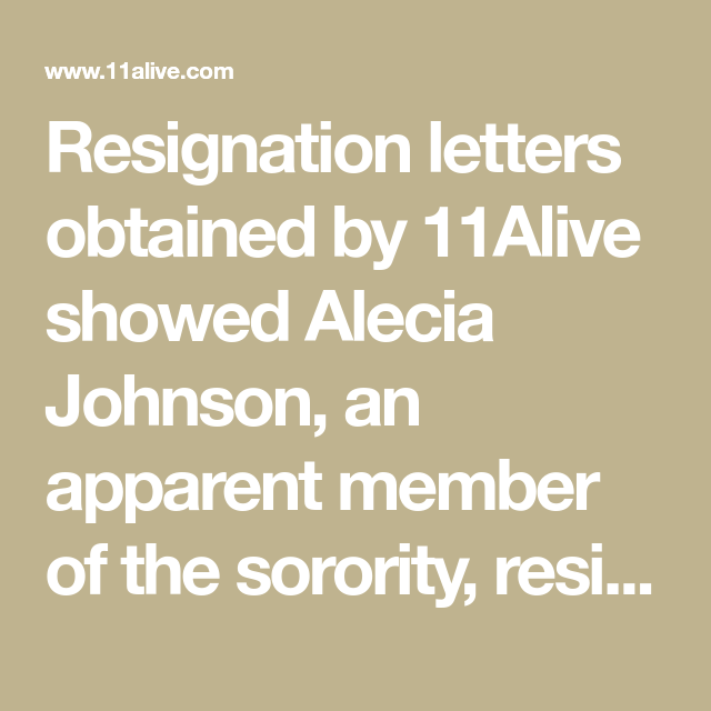 Resignation letters obtained by 11Alive showed Alecia Johnson, an ...