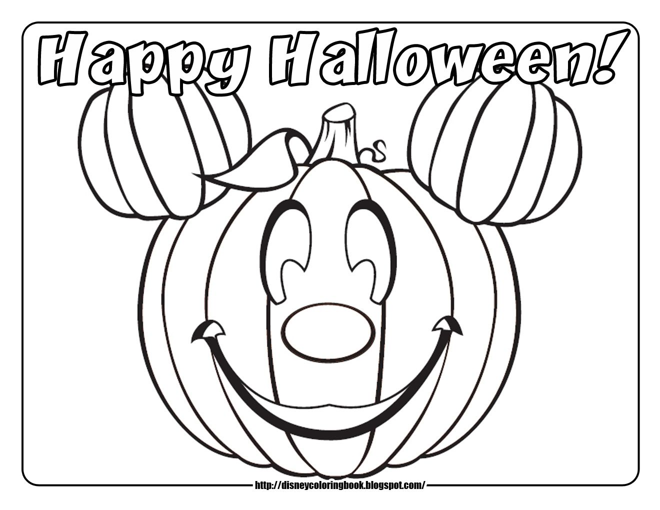 42 Free Printable Disney Halloween Coloring Page For Kids Pages