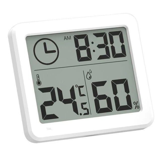 Type Desk Clocksmaterial Plasticshape Squaredisplay Type Digitallength 81mmmodel Number Mc Hygrometer Wall Clock With Thermometer Thermometer Temperature