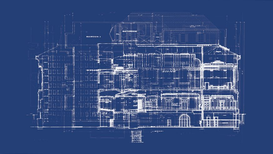 Valérie Kolakis Blueprints for an Unbuilt House 2012 Cyanotype - copy blueprint information architecture