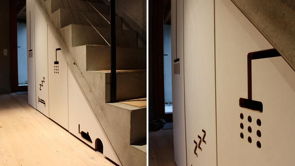 Schrank unter treppe ideen rund ums haus pinterest schrank unter treppe treppe und - Schrank unter treppe ...
