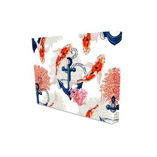 East Urban Home 'Tropical Pattern' Graphic Art on Canvas | Wayfair.co.uk