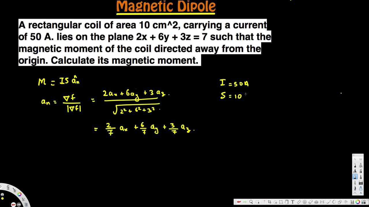 Calculate Its Magnetic Moment Magnetic Dipole Em Field In 2021 In This Moment Magnets Calculator