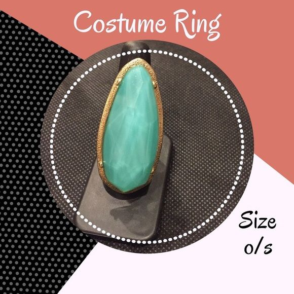• Teal Stone Ring Long Stone Aqua Ring • stretch band one size fits most • Excellent condition. No holes, stains, rips or other damage • Make me an offer! I accept REASONABLE offers and discounts on bundles • My prices fluctuate from time to time, catch items when the prices are low.  Not interested in trading or selling off PoshMark, please don't ask • ✌🏼❤️🛍 Jewelry Rings