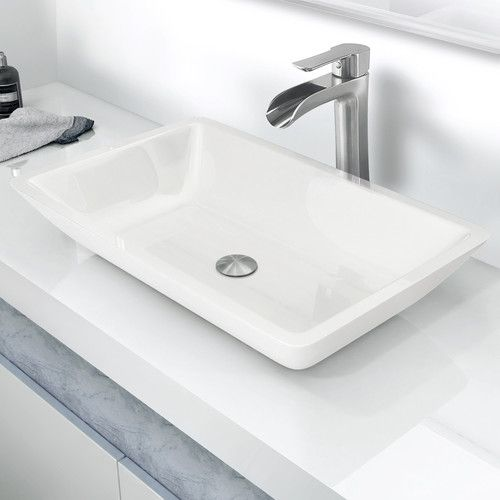 Bathroom Sinks In Phoenix found it at wayfair - flat-edged phoenix stone rectangular vessel