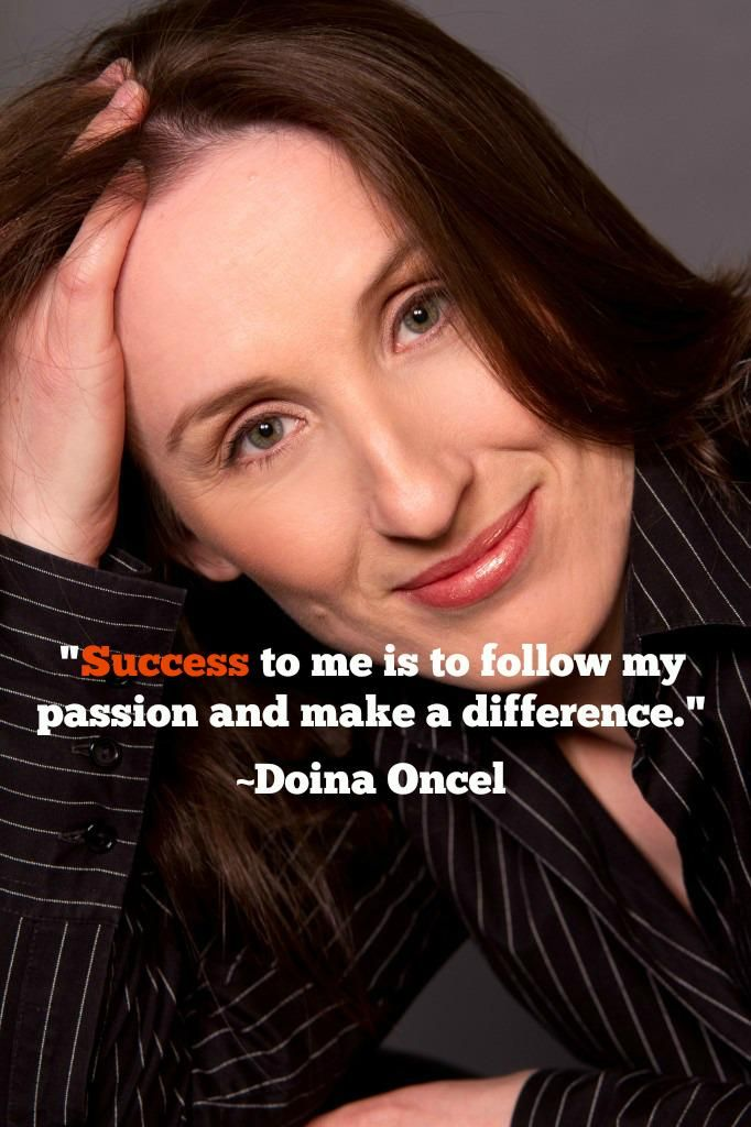 Marketer, philanthropist, and Huffington Post writer @DoinaOncel on her definition of #success...