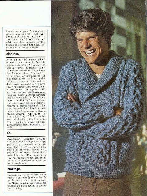 pingouin n 7 1 3 magazine de tricot vintage ann es 70 free pattern femme enfant homme. Black Bedroom Furniture Sets. Home Design Ideas