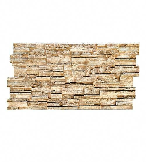 "High External Stone Wall: Stacked Stone Design Wall Panel 45 1/2""W X"