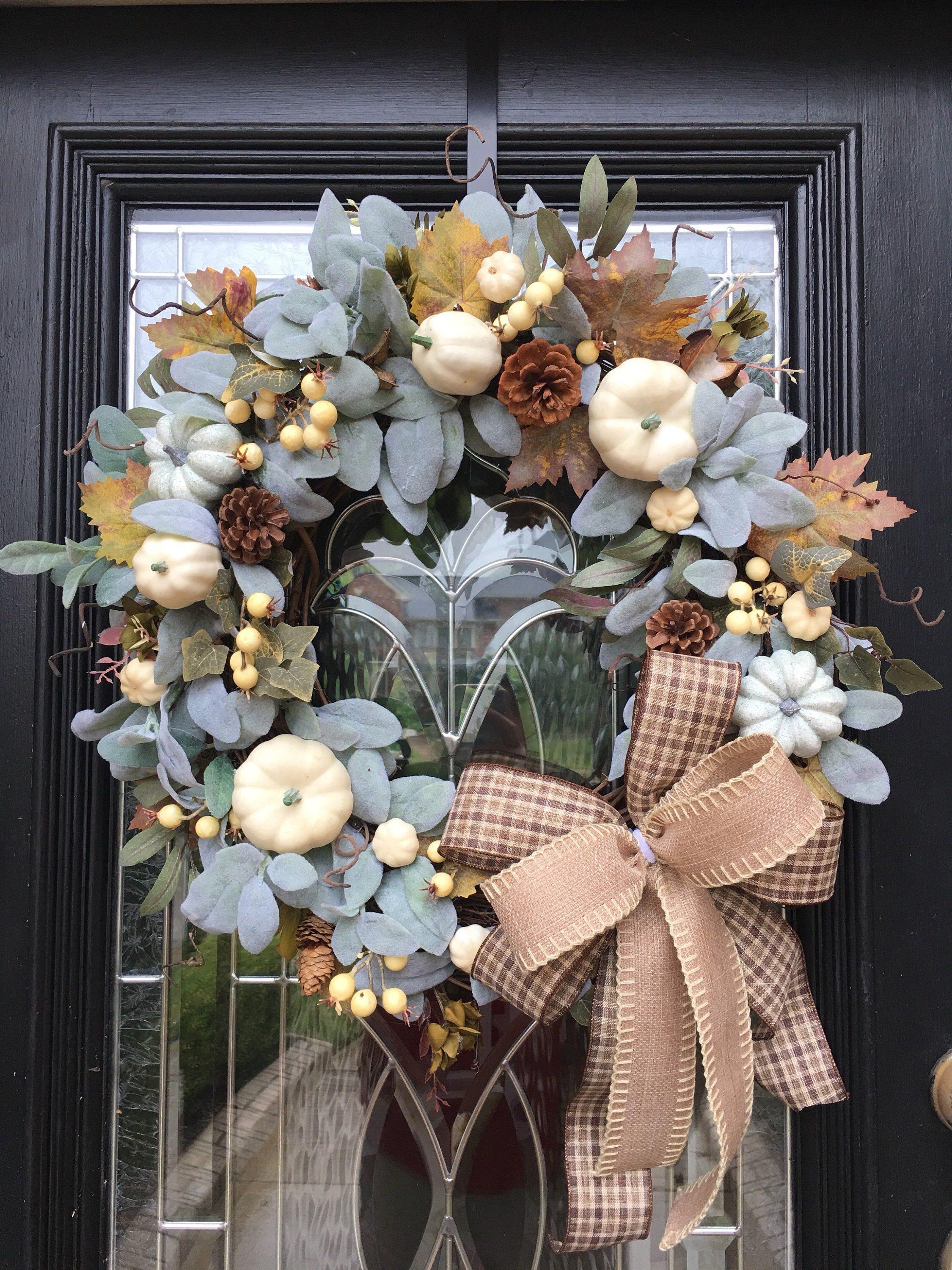 A Personal Favorite From My Etsy Shop Https Www Etsy Com Listing 640130705 Farmhouse Fall Wreath Farmhouse Fall Wreath Fall Grapevine Wreaths Fall Wreath