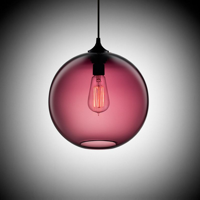Modern art deco Hanging colorful glass ball e27 Pendant Lamp with ...