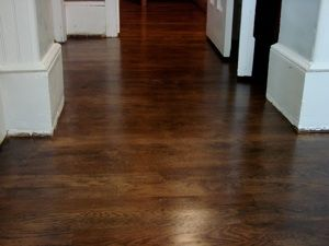 Dark Walnut Stain On Oak Red Oak Finished With A Dark Walnut Stain Oak Floor Stains Red Oak Floors Dark Walnut Floors