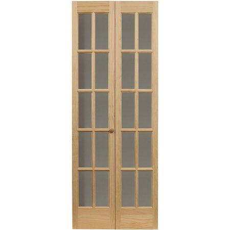 AWC Traditional Divided Light Glass 24 Inch X 80.5 Inch Bifold Door