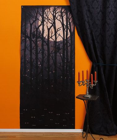 Love this Dark Forest Wall Hanging by Martha Stewart Crafts, $9 - halloween scene setters decorations