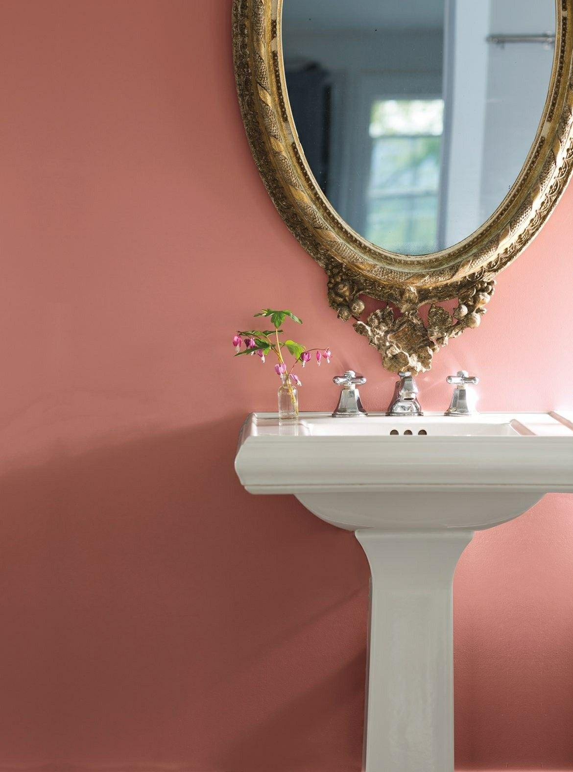 Benjamin Moore Texas Rose Bathroom Wall Colors Bathroom Colors Bathroom Paint Colors