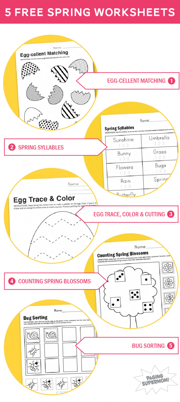 Free Printable Worksheets for Spring | spring unit | Pinterest