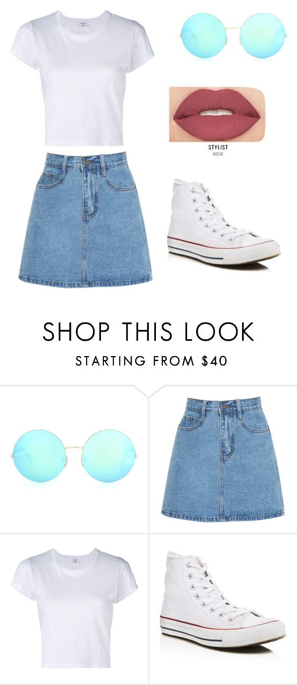 """Untitled #1"" by smcdonald2104 ❤ liked on Polyvore featuring Victoria Beckham, RE/DONE, Converse and Smashbox"