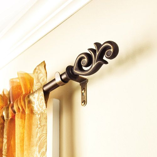 Gorgeous Curtain Rod Detail Curtain Rods Better Homes And