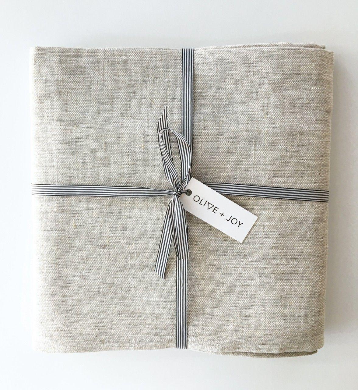 Linen Tablecloth   Olive + Joy