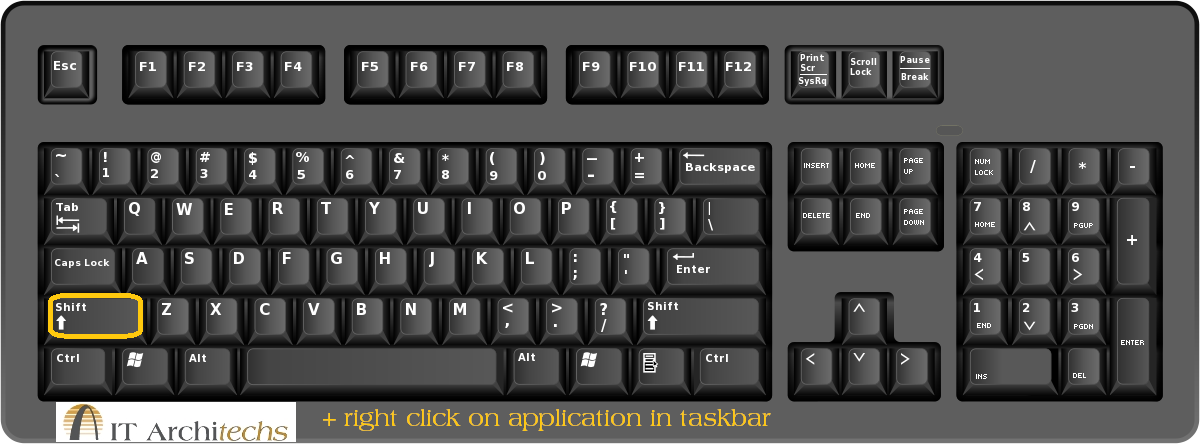 Windows Keyboard tip Is an application opening off screen