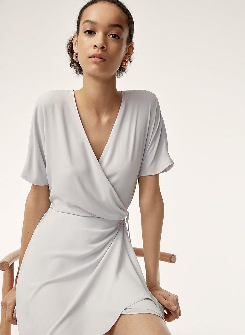 Wallace Dress Short Sleeve Mini Dress Dresses Wrap Dress [ 1147 x 840 Pixel ]