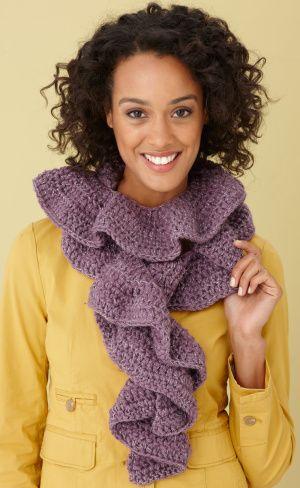 Glitter Ruffle Scarf | Crochet ideas | Pinterest | Medium und ...