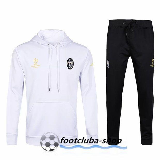 entire collection outlet store sale closer at Sweat a Capuche survetement foot slim Juventus Blanc 2017 ...