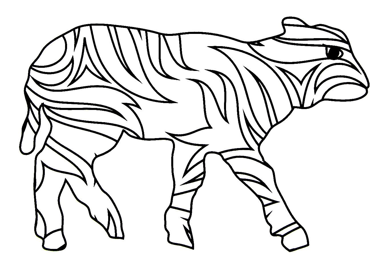 Calf / Baby Cow easy coloring book printable page for kids   Animal ...