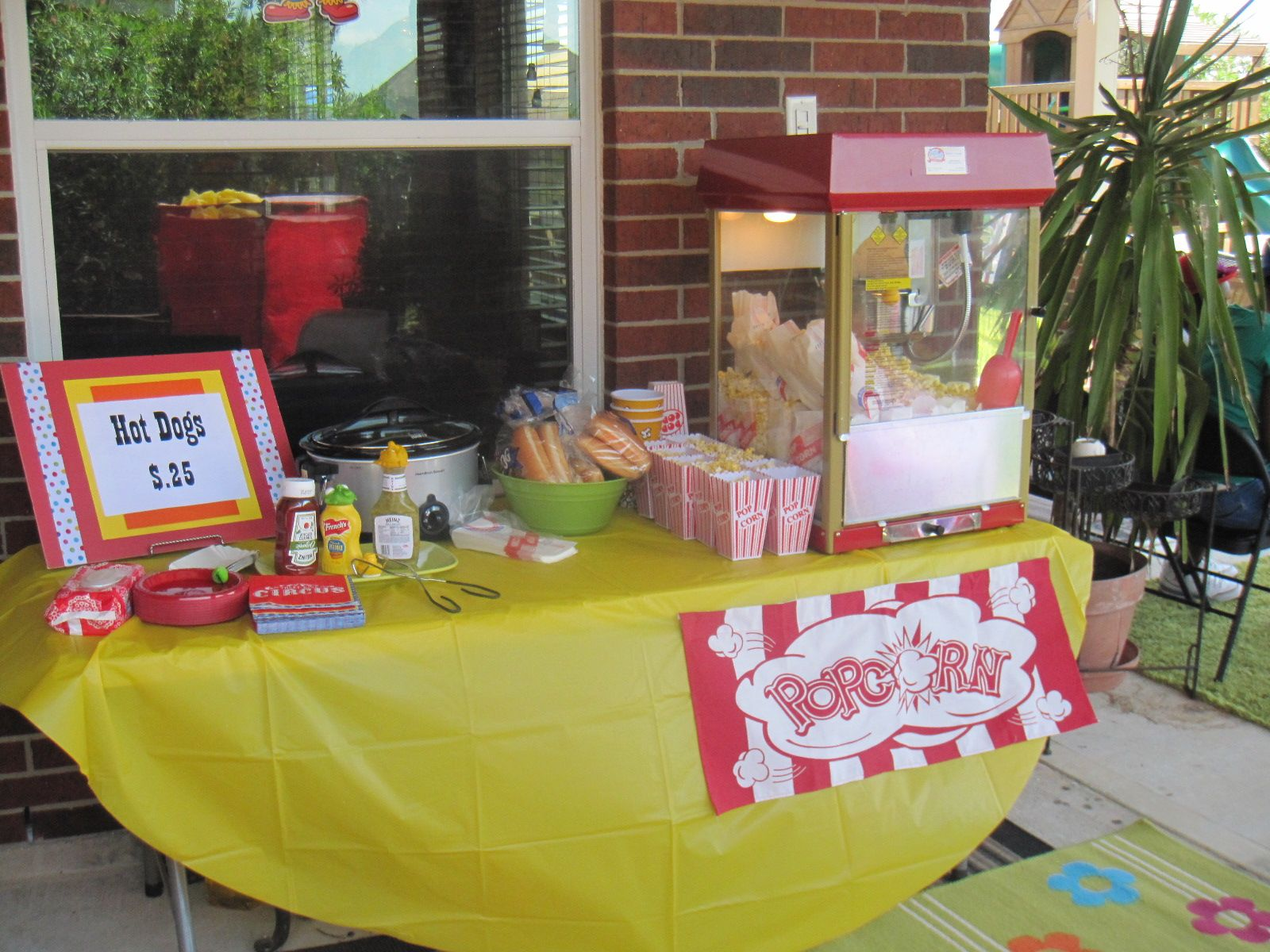 Bright colors, fun games and even a popcorn machine, make this ...