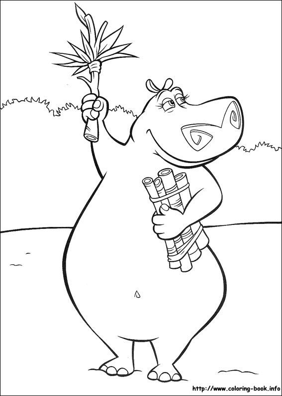 Madagascar coloring picture | Coloring and Activities | Pinterest ...