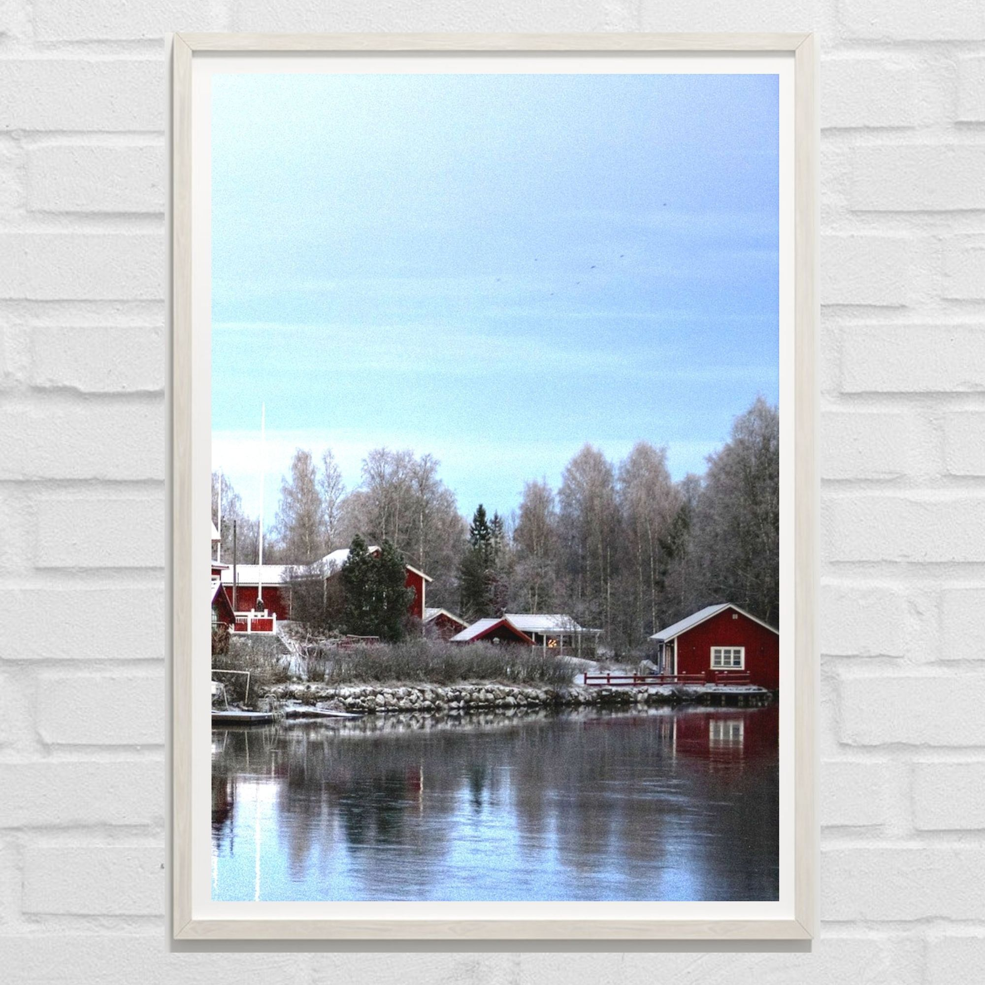 Winter Red Cottage Printable Set Of 3 Piece Christmas Wall Etsy Gallery Wall Art Prints Christmas Wall Art Wall Art