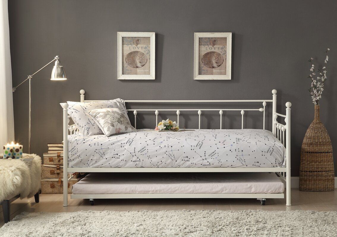 Stillman Twin Daybed with Trundle in 2020 White daybed