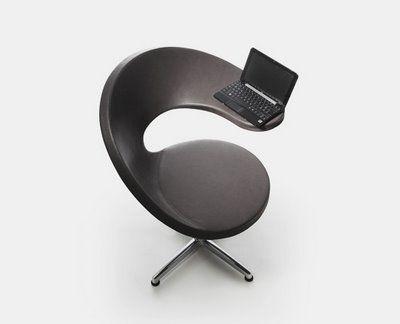 Silla minimalista dise ada para trabajar con la laptop o for Sillas comodas para trabajar