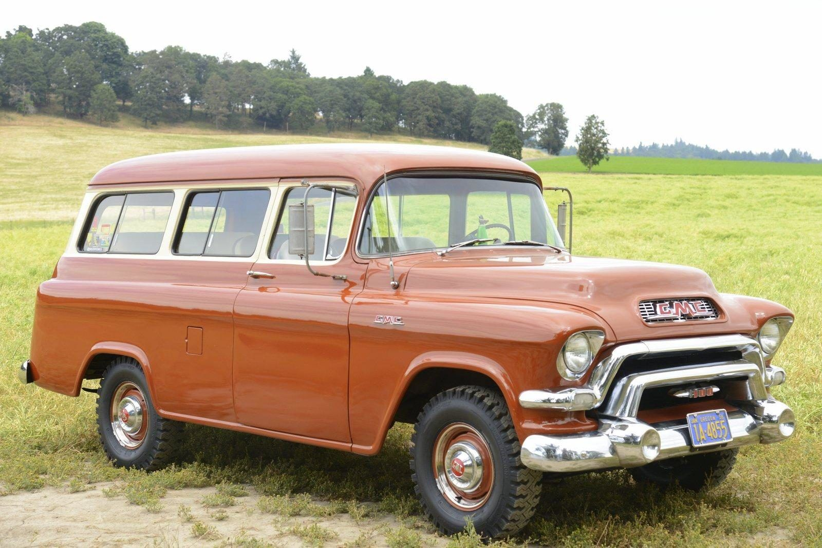 No Reserve 1956 Gmc Carryall Suburban Classic Cars Concept