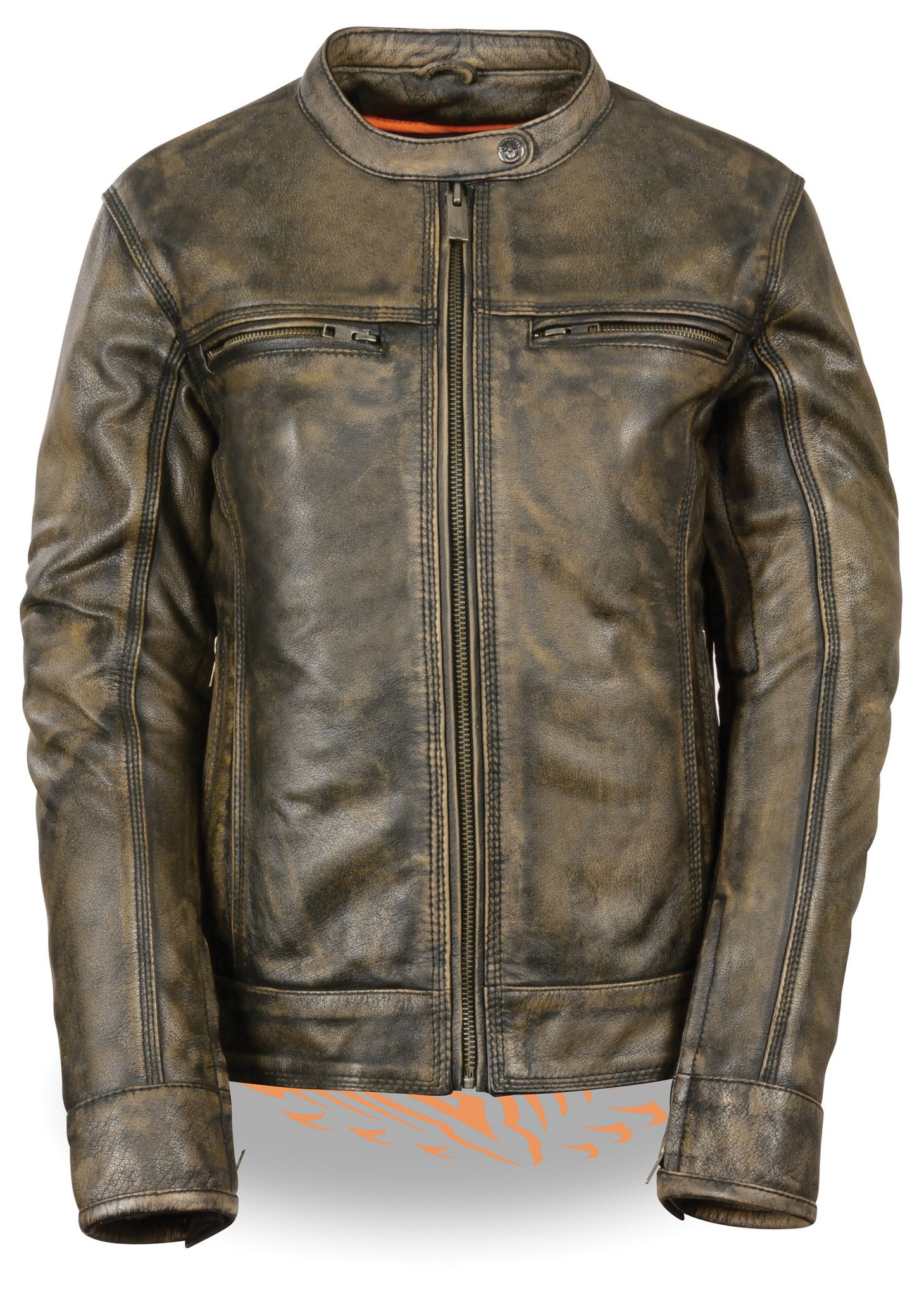 Women's distressed brown leather jacket butter soft