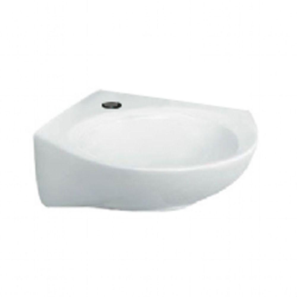 American Standard Cornice Corner Wall Mount Bathroom Sink In White 512959 Randomness Wall Mounted Bathroom Sinks Square Bathroom Sink Corner Wall