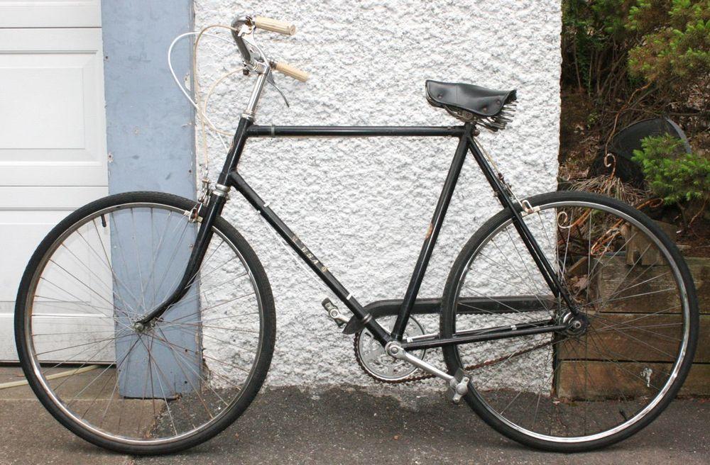Vintage Bsa Mens Classic City Cruiser Bike Sturmey Archer Brooks Seat England Cruiser Bike Vintage Bikes Bike
