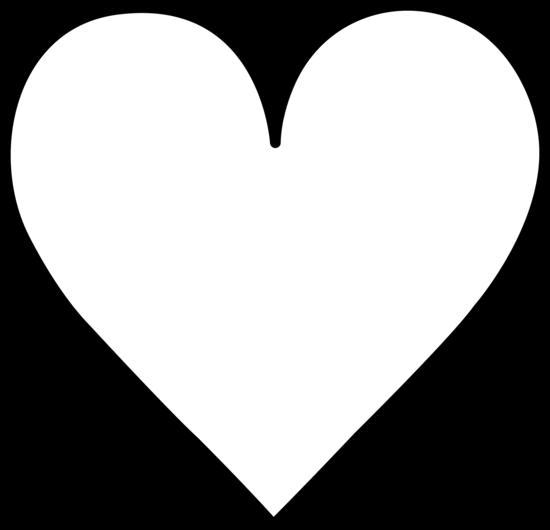 The Midi Skirt Heart Clip Art Black And White Heart White Heart