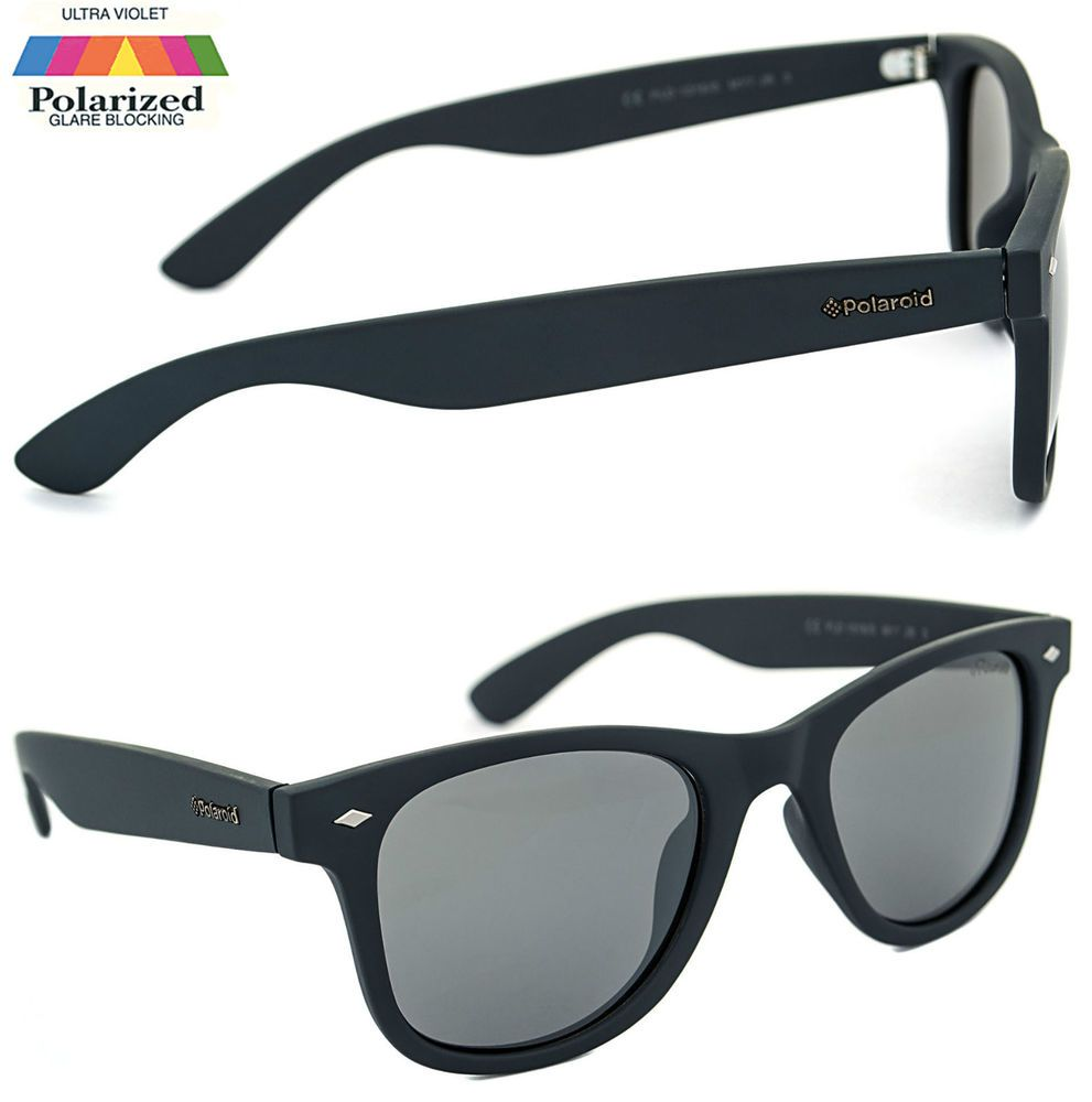 9717a36c14 Polaroid Polarised Sunglasses Designer Blue Wayfarer Ultrasight Lens 100%  UVA in Clothes