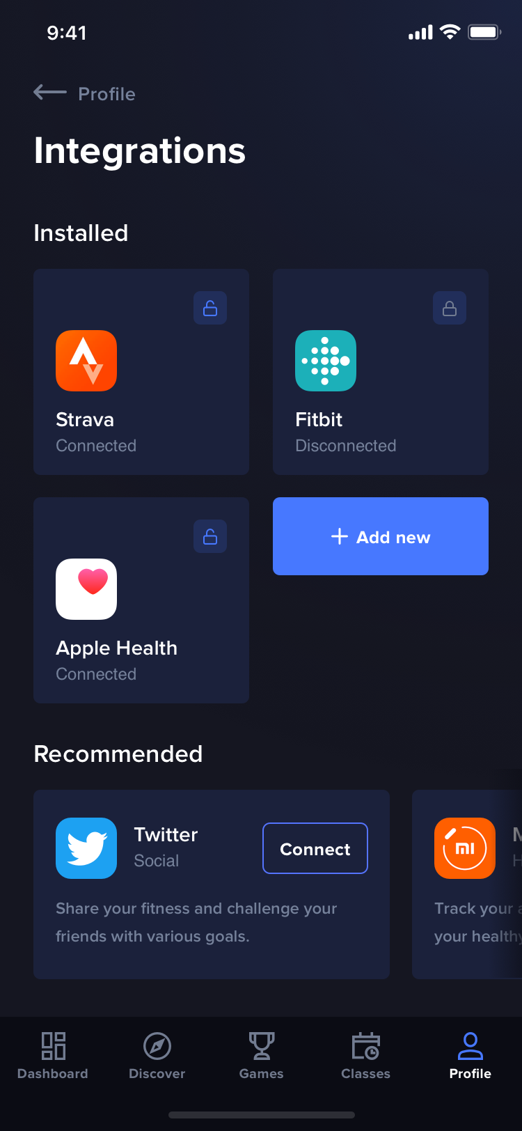 FitnessKingdom Integrations by Jakub Wojnar-Płeszka | ios ui