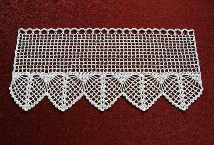 Pin de nurcan en dantel cortinas crochet patrones - Puntillas para cortinas ...