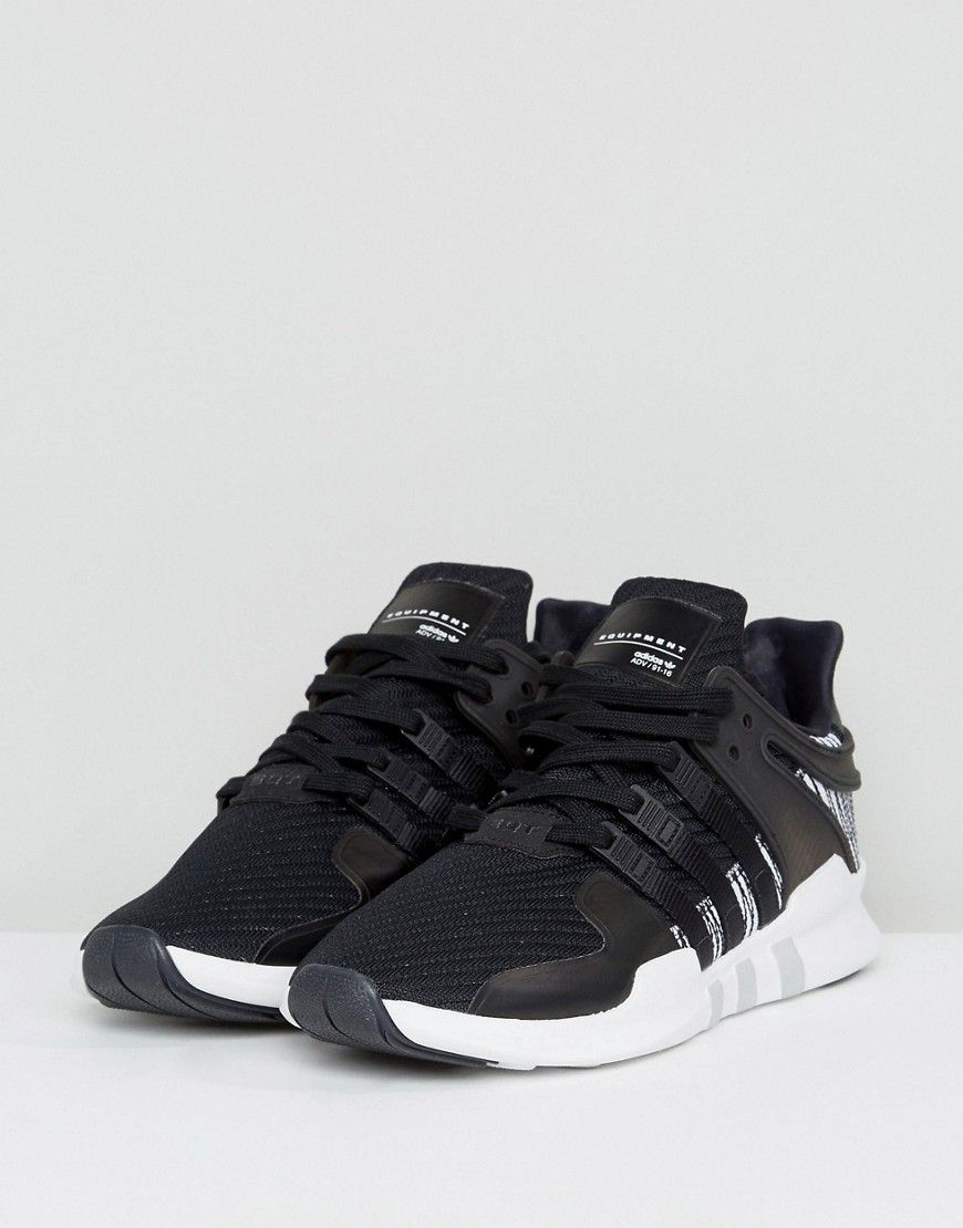 new product 955ad 62779 adidas Originals EQT Support ADV Sneakers In Black BY9585 in ...