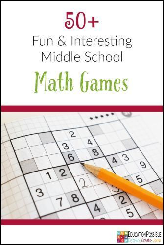 50 Fun And Interesting Middle School Math Games With Images