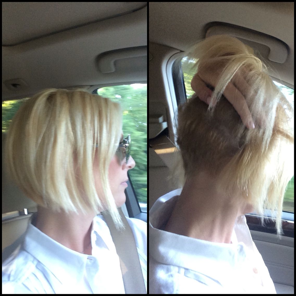Messy Blonde Bob Shaved Underneath Easy Styling Short Hair Rocks